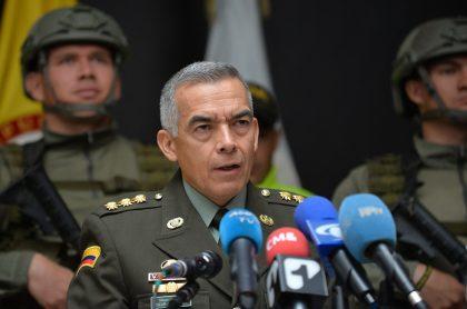 General Óscar Atehortúa cuando era director de la Policía Nacional, a propósito de que podría ser nombrado embajador de Colombia en Australia.