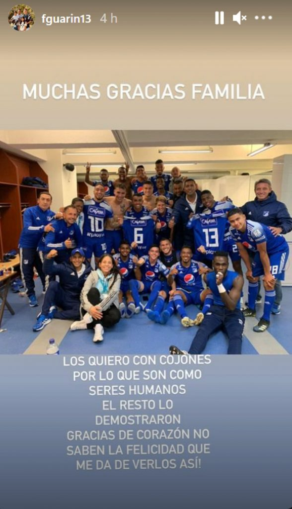 Mensaje de Fredy Guarín a Millonarios / Instagram: @fguarin13
