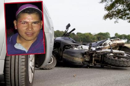 Imagen del hombre asesinado en Bucaramanga al parecer por un taxista, luego de accidente con un carro