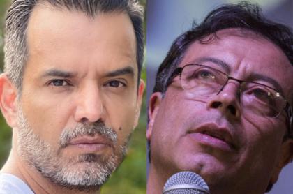 Jorge Cárdenas, actor y próximo candidato al Congreso, y Gustavo Petro, senador y excandidato presidencial.