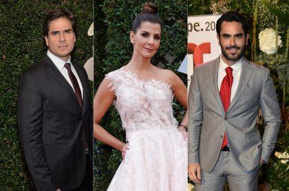 Daniel Arenas, Carolina Cruz y Lincoln Palomeque, en eventos de Grammy o Telemundo, a propósito de que la presentadora habló de ellos y dijo si es verdad que los mantenía.