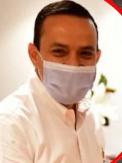 Mauricio Aguilar, gobernador de Santander investigado por la Procuraduría, y foto de la celebración de su cumpleaños