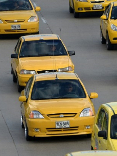 Imagen que ilustra bloqueos de taxistas en Bogotá.