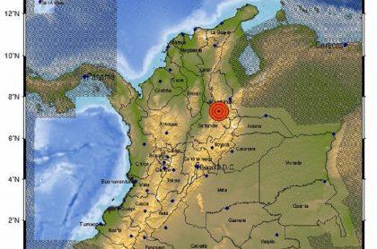 La noche de este 13 de abril se registró un temblor de 4,1 grados en Santander.