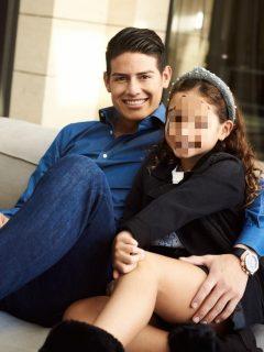 Foto de James Rodríguez y su hija Salomé Rodríguez, a propósito de que ella podría ser cantante.
