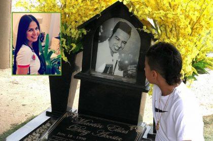 'Caya' Varón, Martín Elías y su hijo Martincito, a propósito del mensaje que ella le dedicó al cantante en el aniversario de su muerte.