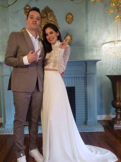 Diego Pulecio y Linda Palma en la sesión de fotos para la revista Vea, donde ella contó que dijo no la primera vez que el cantante de Don Tetto le propuso matrimonio.