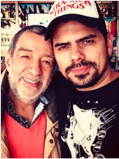 Fotos de Alfonso Ortiz y Alejandro Aguilar, a propósito de herencia del actor