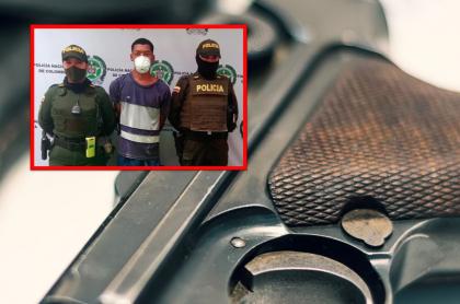 Ladrón fue capturado con un arma que vale 100 millones de pesos.