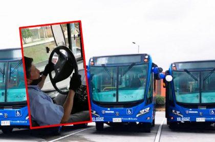 Imágenes que ilustran mal estado de algunos buses del SITP.