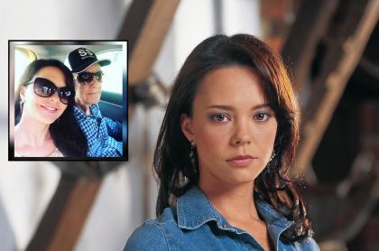 Fotomontaje de Natasha Klauss, actriz de 'Pasión de 'gavilanes' que perdió a su padre