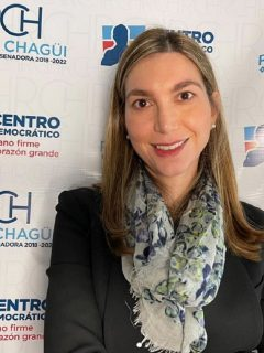 Ruby Chagüi, que apoya el glifosato y está casada con un trabajador de Bayer