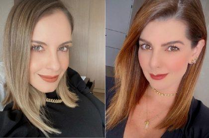 Selfis de Laura Acuña y Carolina Cruz a propósito de versión de si Laura Acuña será reemplazo de Carolina Cruz en 'Día a día' de Caracol.