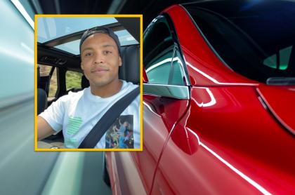 Luis Fernando Muriel compartió foto con su nuevo carro deportivo.