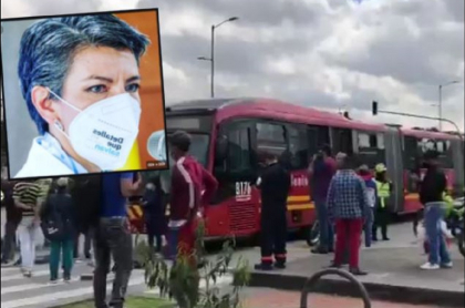 Claudia López, alcaldesa de Bogotá, trinó mientras comerciantes bloquean calles de la ciudad