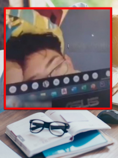 Joven colombiano se quedó dormido en clase virtual y profesora lo despertó amorosamente.