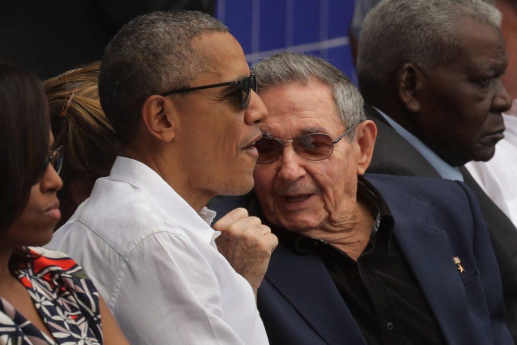 Barack Obama y Raúl Castro en 2016, en La Habana.