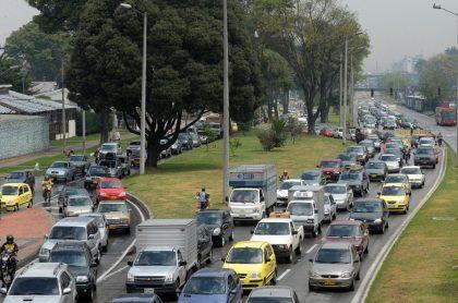 Imagen que ilustra los trancones en Bogotá.