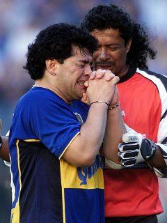 Diego Maradona y René Higuita a próposito de la propuesta que hizo el exarquero sobre llamar la Copa América como el fallico astro del fútbol