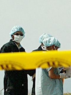 Imagen de cinta de escena de seguridad ilustra artículo Caldas: encuentran cuerpos de dos mineros atrapados