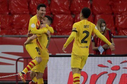 Gol de Messi en la final de Copa del Rey entre FC Barcelona y Athletic.