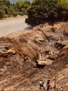 Socavón en Caldas en el que rescataron los cuerpos de 11 mineros atrapados