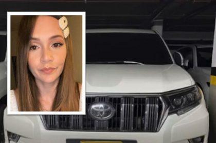 Lina Tejeiro denunció que unos amigos suyos fueron atracados en el norte de Bogotá. Según la actriz, les robaron una camioneta Toyota.