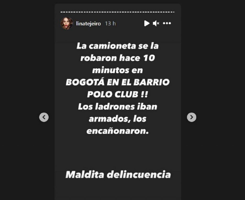 Instagram: Lina Tejeiro
