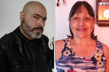 Óscar Monsalve ('Risaloca') y su mamá, Doña Marina.