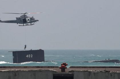 Un submarino, probablemente el KRI Nanggala 402, participó en un ejercicio en una base naval en Cilegon, provincia de Java Occidental el 3 de octubre de 2015.