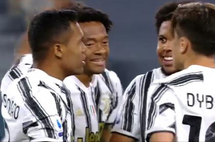 Juan Guillermo Cuadrado hace 2 asistencias con Juventus ante Parma en Italia.