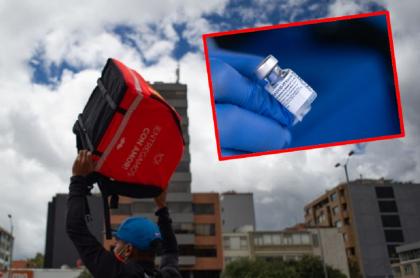 Imágenes que ilustran la intención de Rappi de obtener vacunas.