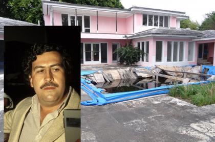 Foto de 'casa rosada' de Pablo Escobar en Miami, a propósito de qué pasó con la propiedad