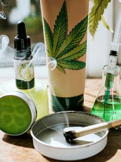 Productos derivados de la marihuana.