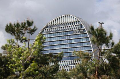 Sede del banco BBVA en Madrid, España.