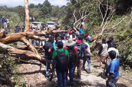 Indígenas reportan ataque armado a Minga indígena en Caldono, Cauca