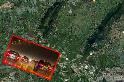 Imágenes que ilustran un accidente y trancón en la salida de Bogotá.