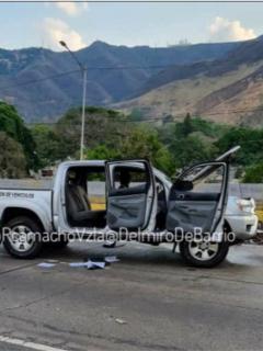 Imágenes del ataque a comisión de autoridades en Caracas