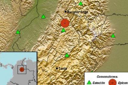 Temblor en Colombia hoy 23 de abril con epicentro en Los Santos, Santander
