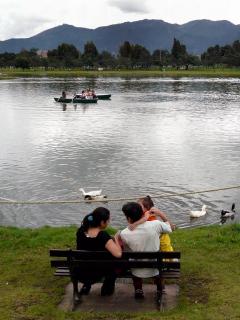 Lago del parque Simón Bolívar de Bogotá, donde encontraron un cuerpo flotando