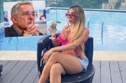 Luna Gil, conocida como 'La muñeca inflable', dijo que mencionar al expresidente Uribe la hizo más famosa en Instagram