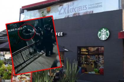 Imágenes del Starbucks atracado en Bogotá.