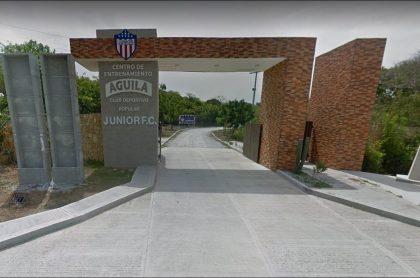 Imagen de la sede deportiva del Junior de Barranquilla, en donde ladrones se metieron a robar