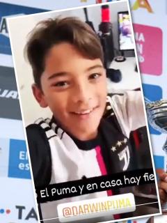 Hijo de Mario Sábato, loco con triunfo de Darwin Atapuma en Vuelta a Colombia. Fotomontaje: Pulzo.