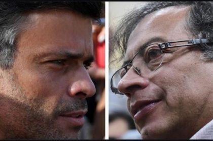 Leopoldo López y Gustavo Petro, al que critica en una entrevista con Semana