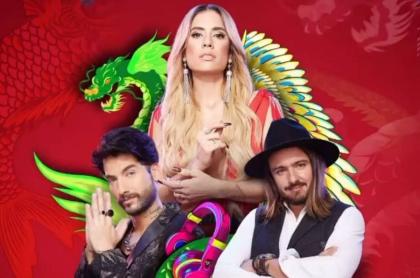 Carolina Ramírez, Carlos Torres y Andrés Sandoval, protagonistas de 'La reina del flow 2', a propósito de su lanzamiento.