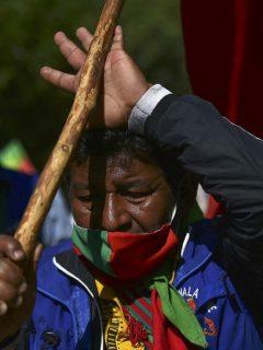Imagen que ilustra a la minga indígena.