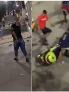 Videos de los ciudadanos atacando a Policías en Cúcuta.