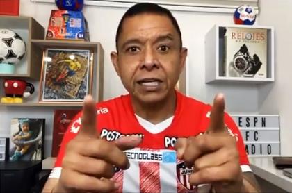 Criticas de Iván René Valenciano a presidentes de Junior y América de Cali. Imagen del exjugador barranquillero.