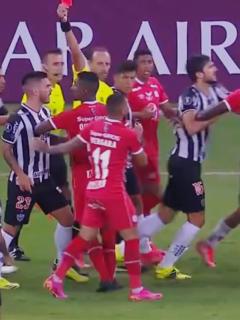 América de Cali cae ante Atlético Mineiro en Copa Libertadores; hubo pelea.